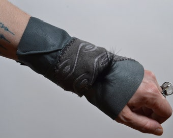 Gray Leather Cuff Bracelet - Leather Cuff Bracelet - Leather Cuff - Leather Cuff Bracelet - Leather Jewelry