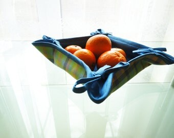 Linen basket, fruit basket, bread linen basket, kitchen basket, easter decor, home accessory