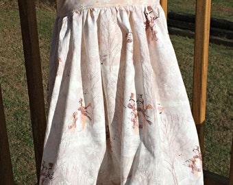 Girls Christmas Dress - Holiday Dress - Girl Jumper - Winter Dress - Toddler Dress - Girl Clothes - Girl Fashion - Tan Dress - Ruffle Dress