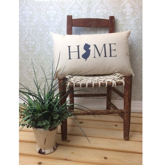 New Jersey Pillow Long Pillow Home Pillow By Henhouseoriginals