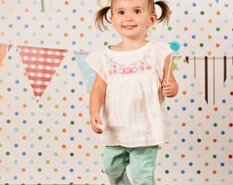 Dots & Banners Girl - Vinyl Photography Birthday Backdrop Photo Prop