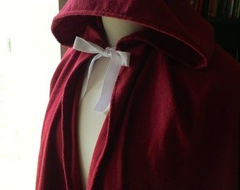 18th Century Girls' Cloak - Made to Order - Historically Inspired - Colonial Georgian Revolutionary War Item