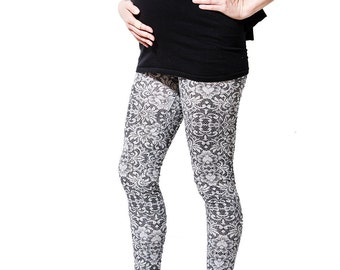 Lace Cotton Maternity Leggings