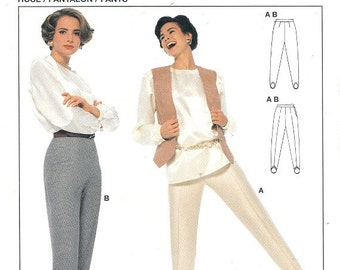 Burda 4451 Sewing Pattern Basic Style Stirrup Pants Stretch Knits Only Plus Sizes Included 10 - 22 Uncut