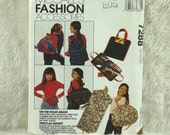 Bag Pattern, McCalls 7288 Crafts, Duffle, Garment, Activity Bags, Backpacks, Fanny Pack, 1994 Uncut
