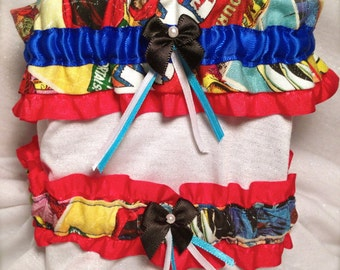Comic Book, Superhero Wedding Garter Set