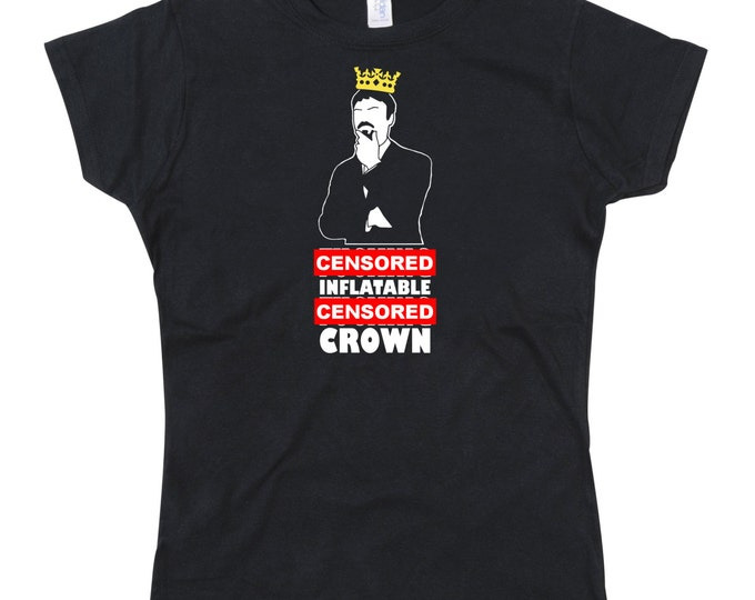 Ladies UNCENSORED MATURE Ashens Inflatable Crown T-shirt (See picture 2 for actual image)