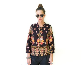 Floral Jacket, Boho Jacket, African Clothing, Summer Jacket, African Print Jacket, Floral Blazer, Bohemian Jacket, Modern Clothing / M