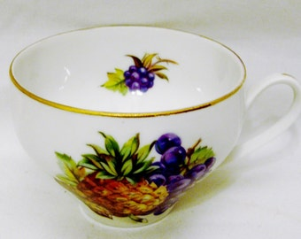 Toscport Fine China Cups in Four Fruit Designs-Pears, Plums, Pineapple, & Grapes. Select One or More-Made in Czechoslavakia