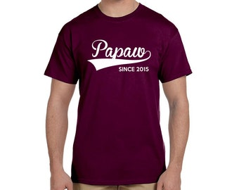 Grandfather Gift Personalized Mens Papaw Gifts Since (ANY YEAR) Gifts for Papaw Christmas Grandparents shirts Papaw Gift Poppy Gifts Grandad