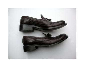 Oxford woman shoes dark brown made in florence