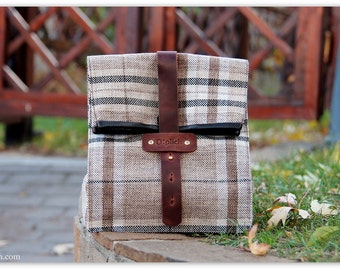 Plaid Lunch Tote for Men and Women / Insulated Lunch Bag / Lunch Bag / Healthy food / Every day / FREE PERSONALIZATION