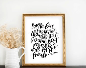 Scripture Print: Greater Love