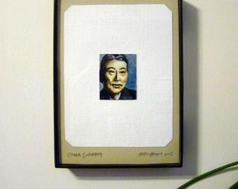Miniature Chiune Sugihara Portrait Painting