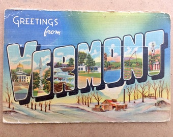 Vintage Postcard Book: Greetings from Vermont