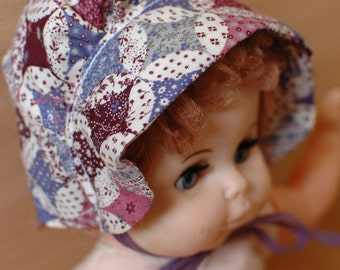 Dolls Clothing *SALE* / Bears Clothing / Dolls Dress Ups / Dolls Bonnet / Children's Dress ups / Toy Clothing / Hat / Floral Pink and Blue