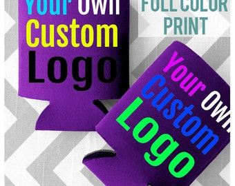 FULL COLOR PRINT - Custom Wedding Koozies - Custom Full Color Can Cooler - Free Shipping on all Koozies