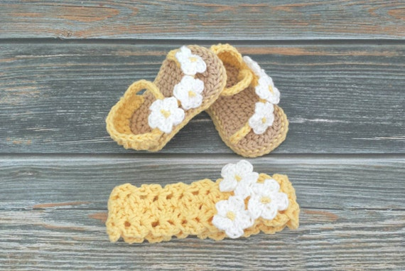 Moana Crocheted Toddler Girl Sandals