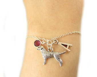 Labrador Bracelet- choose a birthstone and initial, Labrador Jewelry, Labrador Gift, Personalized Labrador, Labrador Retriever, Dog Bracelet