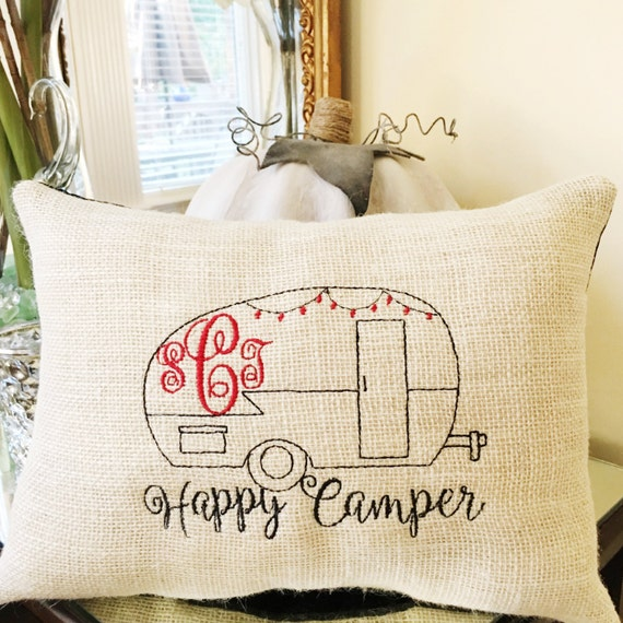 Decorative Pillows Travel Theme : Items similar to Personalized Travel Pillow, Custom with Monogram, Camping RV Pillow, Wanderlust ...