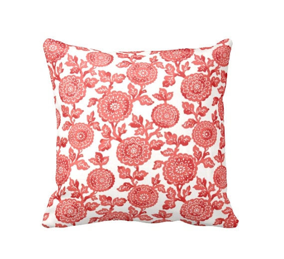 Throw Pillows Coral : Decorative Pillows Coral Throw Pillows Floral Pillows Coral