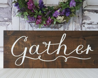Dining Room Sign Gather Sign Dining Room Wall Art Pallet Wall Art Rustic Dining Room Decor Kitchen Wall Art Gather Pallet Sign Fixer Upper