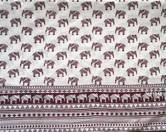 Tribal fabric screen print elephant print fabric by the yard