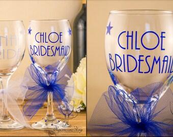 Tutu WINE Stars - personalised|glass|glasses|bride|bridesmaid|gift|name|Mother of the Bride, Groom|custom|Bridal|Bridesmaids