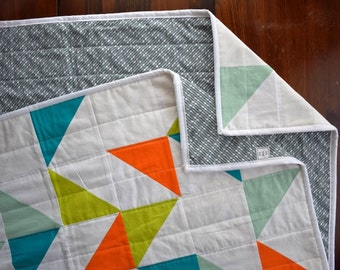 The Confetti Quilt: Wild Thing   Modern Triangle Quilt