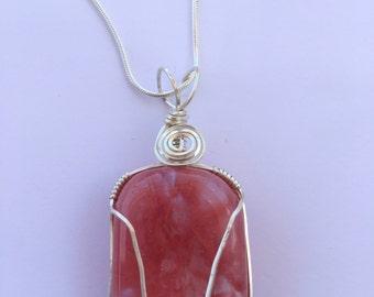Strawberry Obsidian Necklace