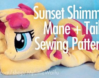 Sunset Shimmer Mane + Tail Sewing Pattern