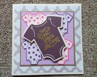 first birthday onesie card