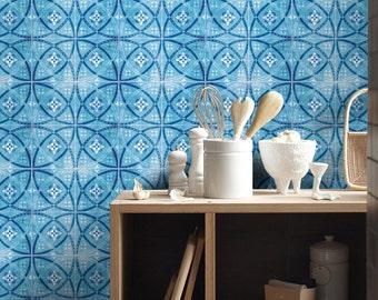 Blaue Vintage   Tattoos Tile   Fliesenaufkleber   Küchenfliesen   Fliesen    Bad   PACK 24
