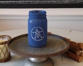 Hand Painted Sand Dollar Mason Jar!