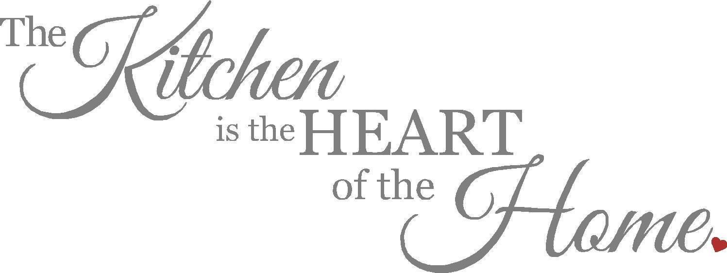 The Kitchen Is The Heart Of The Home Wall Decal Kitchen Wall