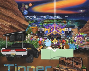 Tipper . Red Rocks . 2015 . Digital Art Print (FunktionOne, Quixotic, Alex Grey, Allyson Grey, Ott, Luisine, Android Jones, John Singer)
