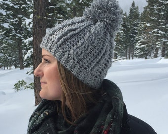 Cabled Winter Beanie