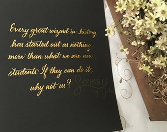 Every Great Wizard Quote from HP and the Order of the Phoenix Gold Foil Print