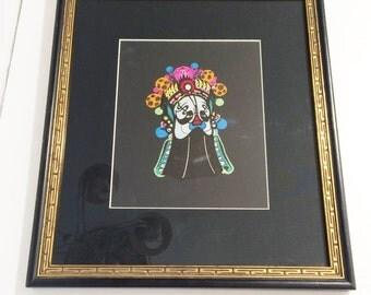 Opera Mask Chinese Mask-Beijing Peking hand painted Picture, Beautifully Professionally framed