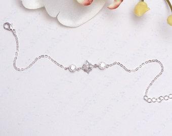 Bridal bracelet, Cz Bridal Bracelet, Romantic jewelry, wedding bracelet, French handmade, Bridal accessories silver, silver jewelry, Bridal