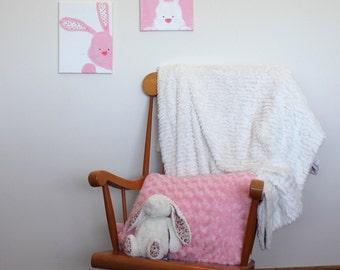Bunny rabbit nursery wall art