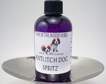 Anti Itch Dog Spritz - Natural Non Toxic Flea and Tick Spray