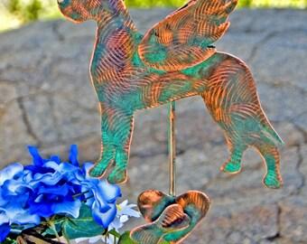 Great Dane Metal Garden Yard Art Pet Memorial Stake, Dog Grave Marker, Memorial Garden Art, Copper Memorial Dog,  Outdoor Metal Sculpture