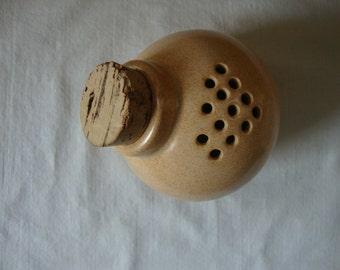 Vintage MCCOY Pottery Shaker Bottle With Cork McCoy Pottery Corked Shaker Jar Dessert Gold McCoy Pottery USA
