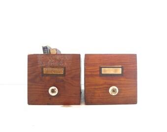Vintage Wood Shop Drawer, Industrial Storage