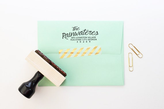 Return Labels For Wedding Invitations: Return Address Stamp Wedding Invitation Stamp Rubber Stamp