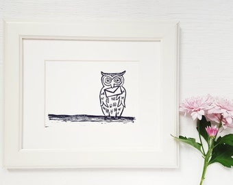 Send an Owl | 5x7 Linocut Art Print | Limited Edition Original Artwork | Block Print