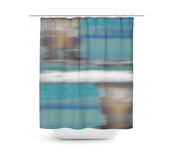 Shower curtains brown and turquoise shower curtains for Turquoise and brown bathroom accessories