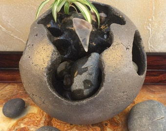 Tabletop Fountain, Indoor Water Fountain, Water Fountain,  Garden Fountain, Waterfall, Stone Sculpture, Water Fountain Indoor