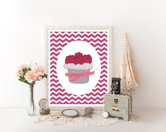 Cupcake Printable, Cupcake Art, Cupcake Decor, Cupcake Download Print, Cupcake Digital Download, Cupcake Decor, Cupcake, Cupcake Print 0077